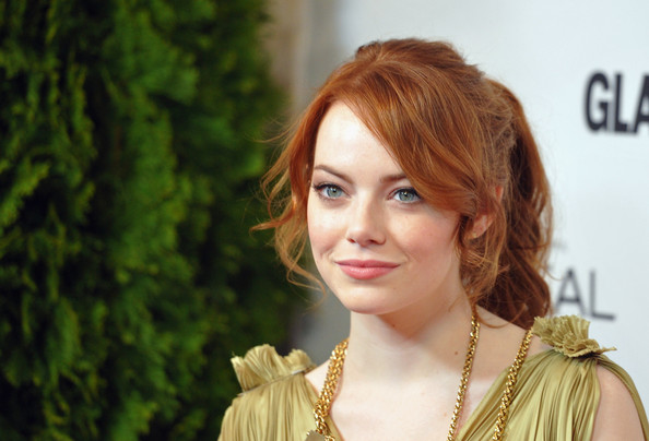 More Pics of Emma Stone Metallic Shoulder Bag (1 of 6) - Emma Stone Lookbook - StyleBistro