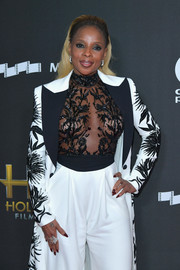 Mary J. Blige went bold in a sheer, beaded bodysuit by Zuhair Murad Couture at the Hollywood Film Awards.