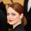 Emma Stone's Sleek Pony and Ladylike Red Lips