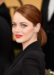 Emma Stone could rock a simple ponytail like it's the most elegant hairstyle!