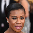 Uzo Aduba's Sleek Updo and Burgundy Pout