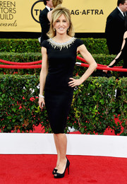 Felicity Huffman opted for a little black dress by Lorena Sarbu for her SAG Awards look. The bedazzled neckline kept it from being just another boring LBD.