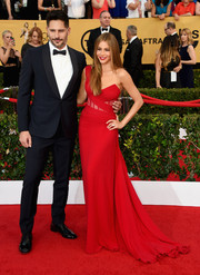 Sofia Vergara dressed up her curves in an alluring red one-shoulder gown by Donna Karan Atelier for the SAG Awards.