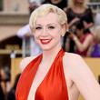 Gwendoline Christie's Retro Finger Waves and Classic Red Lip