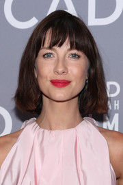 Caitriona Balfe kept it simple with this bob with wispy bangs at the 2018 SCAD Savannah Film Festival premiere of 'Outlander.'