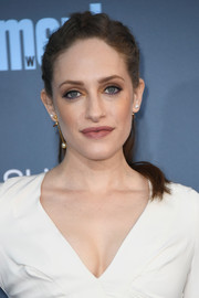 Carly Chaikin was punk-glam with her braided half-up hairstyle at the Critics' Choice Awards.