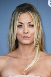 Kaley Cuoco hit the Critics' Choice Awards wearing her hair in face-framing layers with a teased crown.