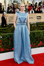 Gwendoline Christie enchanted in a sky-blue silk gown by Lanvin at the SAG Awards.