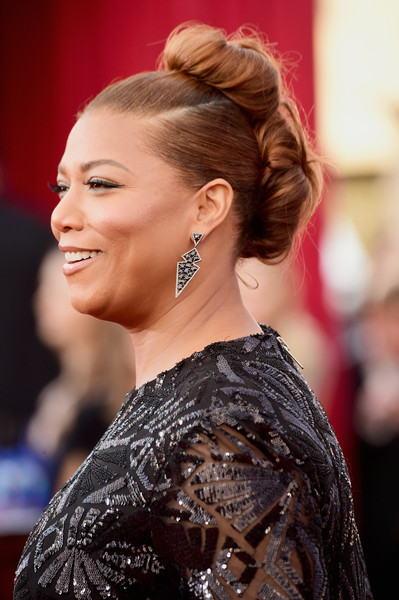 Queen Latifah went playful with these two buns for her SAG Awards look.