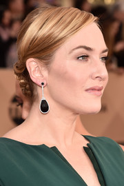 Kate Winslet styled her hair into a low braided bun for the SAG Awards.
