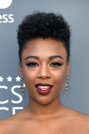 Samira Wiley rocked a side-shaved curly 'do at the 2018 Critics' Choice Awards.