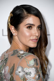 Nikki Reed looked very ladylike with her half-pinned waves at the Elle Women in Hollywood Awards.