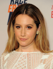 Ashley Tisdale opted for a simple center-parted style when she attended the Race to Erase MS Gala.