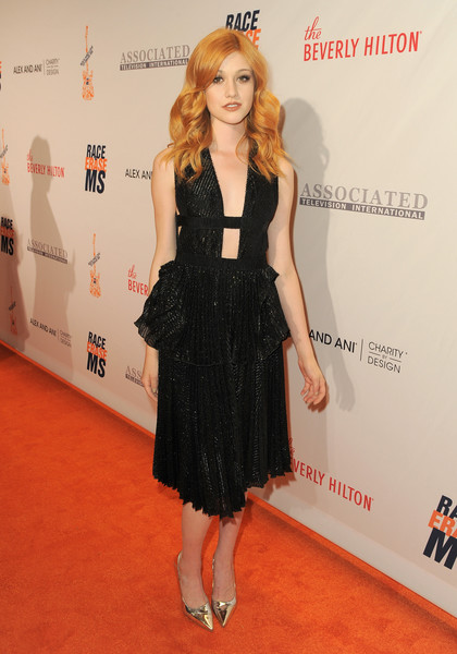 Katherine McNamara injected some shine with a pair of silver pumps.