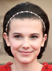 Millie Bobby Brown looked adorable wearing this retro bob, complete with a bedazzled headband, at the SAG Awards.