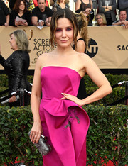 Sophia Bush paired a beaded silver clutch with a strapless fuchsia dress for total elegance at the SAG Awards.