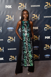 Anna Diop was all about easy glamour in a beaded dress by ASOS paired with wide-leg pants at the premiere of '24: Legacy.'