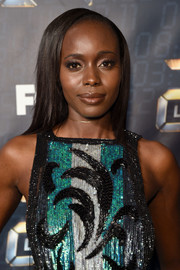 Anna Diop wore her hair straight with a deep side part at the premiere of '24: Legacy.'