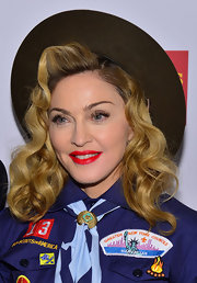 Madonna's signature golden locks looked red carpet-ready with these glamorous curls.