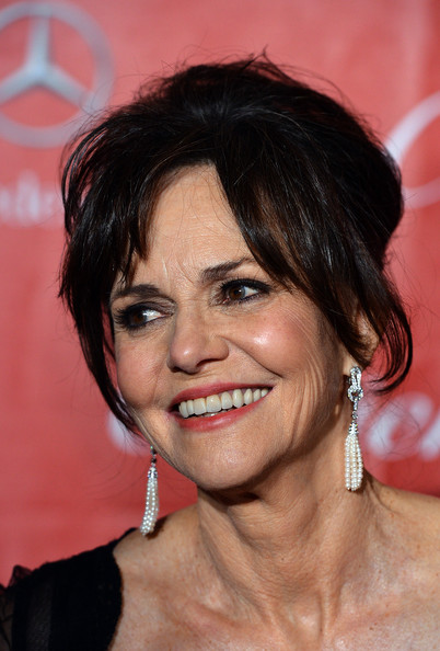 More Pics of Sally Field Messy Updo (1 of 14) - Sally Field Lookbook - StyleBistro