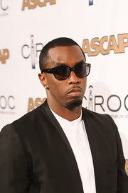 Sean Combs topped off his dapper ensemble at the Rhythm & Soul Music Awards with a pair of square sunglasses.