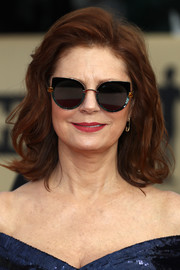 Susan Sarandon wore her hair in a wavy bob at the 2018 SAG Awards.