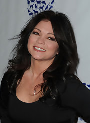 Valerie Bertinelli showed off her gorgeous locks in long curls at the Genesis Awards.