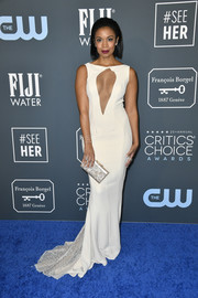 Susan Kelechi Watson turned heads in a cream-colored Galia Lahav gown with a cleavage-baring cutout at the 2020 Critics' Choice Awards.