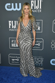 Annabelle Wallis looked dazzling in a beaded silver gown by Moschino at the 2020 Critics' Choice Awards.