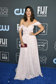D'Arcy Carden looked adorable in an off-the-shoulder polka-dot gown by Tadashi Shoji at the 2020 Critics' Choice Awards.