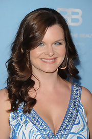 Heather Tom attended the 25th Anniversary Party for 'The Bold and the Beautiful' wearing her hair in shiny cascading curls.