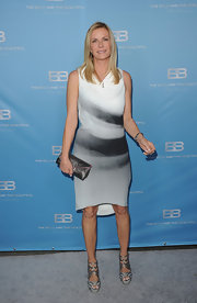 Katherine Kelly Lang wore this artistic print dress to the CBS Silver Anniversary party for the 'Bold and the Beautiful.'