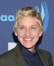 Ellen DeGeneres wore her short locks stylishly tousled during the GLAAD Media Awards.