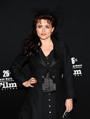 Helena donned a cute and quirky tulle bow in her hair for her dark ensemble at the Santa Barbara International Film Festival.