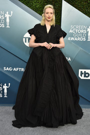 Gwendoline Christie was a goth princess in a voluminous black gown by Rick Owens at the 2020 SAG Awards.