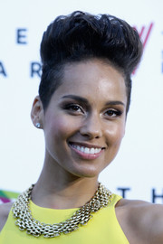 Alicia Keys styled her hair into a sky-high fauxhawk for the 2013 ARIA Awards.