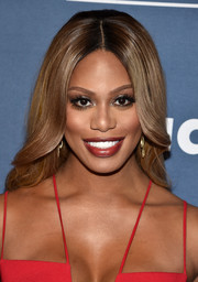 Laverne Cox showed off perfectly glam waves at the GLAAD Media Awards.