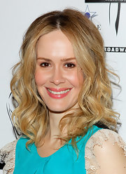 Sarah Paulson wore her hair in soft spirals for the Lucille Lortel Awards.