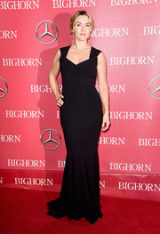 Kate Winslet looked ageless in a black Roland Mouret mermaid gown at the Palm Springs International Film Fest Awards Gala.