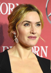 Kate Winslet swept her hair back into a loose, wavy bun for the Palm Springs International Film Fest Awards Gala.
