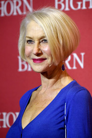 Helen Mirren showed off a perfectly styled graduated bob at the Palm Springs International Film Fest Awards Gala.