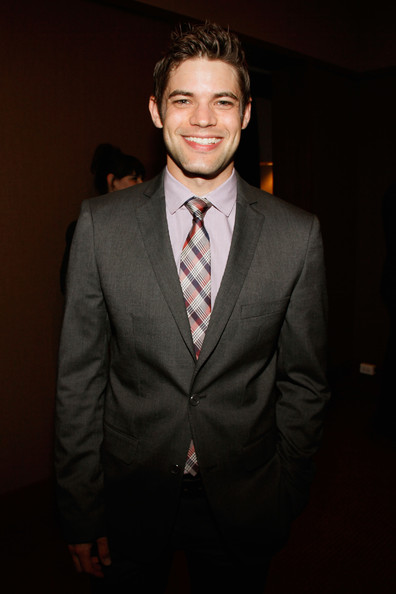 Jeremy Jordan accessorized with a stylish plaid tie when he attended the Lucille Lortel Awards.