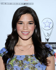 America Ferrera wore her long hair in billowy waves at the Lucille Lortel Awards.