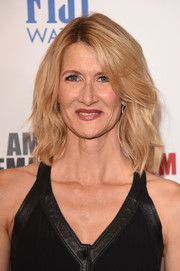 Laura Dern styled her hair with edgy waves for the American Cinematheque Award.