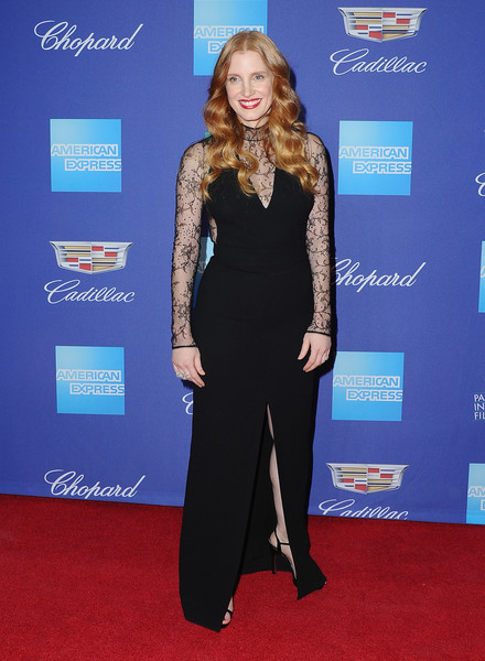 More Pics of Jessica Chastain Long Wavy Cut (2 of 14) - Jessica Chastain Lookbook - StyleBistro