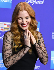 Jessica Chastain wore a stunning diamond ring by Piaget to the Palm Springs International Film Festival Awards Gala.