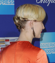 Saoirse Ronan styled her hair into a twisty bun for the Palm Springs International Film Festival Awards Gala.