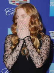 Jessica Chastain flaunted a gorgeous diamond ring by Piaget at the Palm Springs International Film Festival Awards Gala.