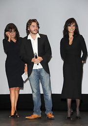 Penelope Cruz looked chic in a classic LBD with a tie-waist belt at the Torino Film Festival Opening Ceremony.