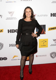 Gia Carides opted for a basic little black dress when she attended the Australians in Film Awards Gala.